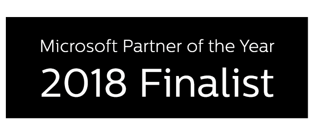 Awards - Microsoft Partner of the year - 2018 Finalist