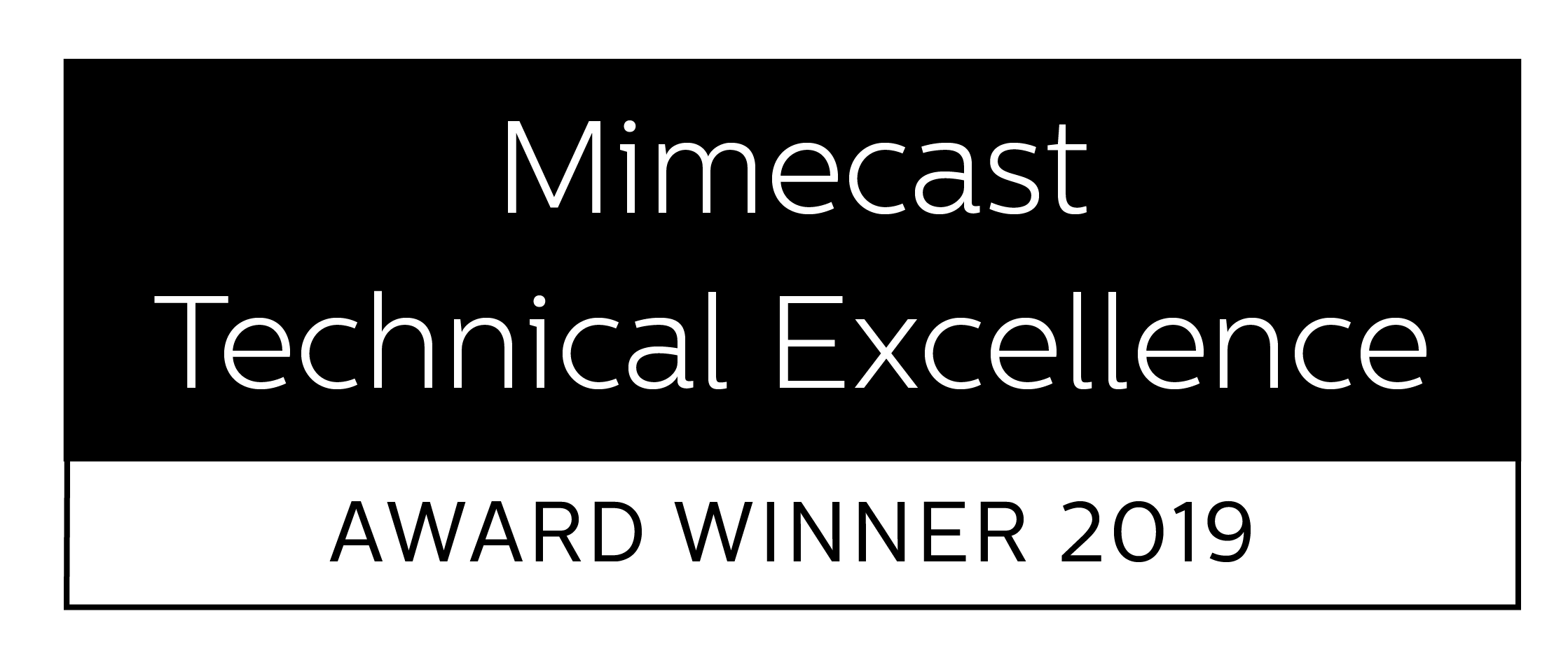 Mimecast technical excellence award