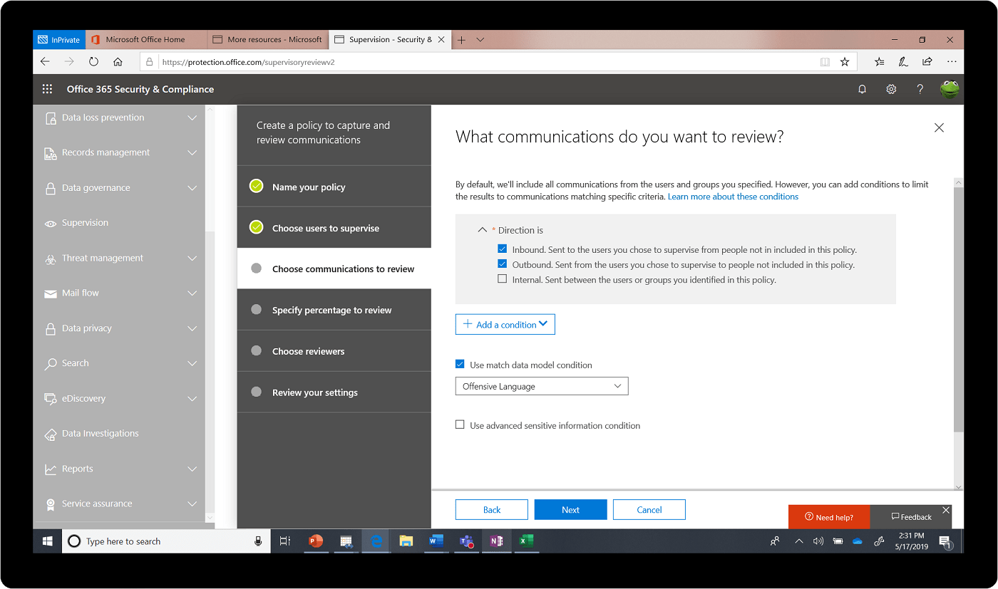 Office 365 and Compliance