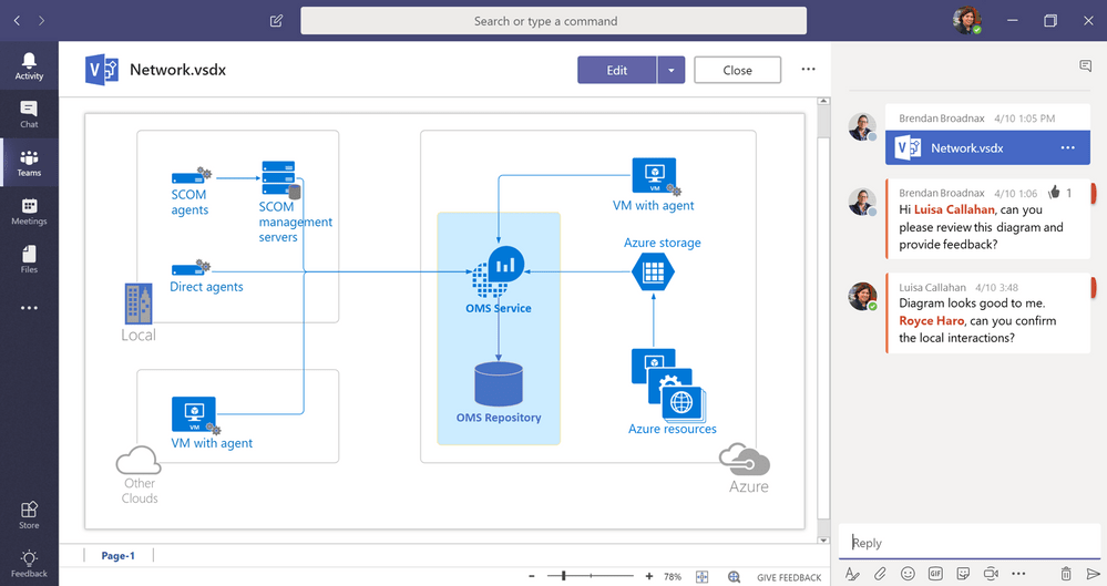 Visio is now on Teams