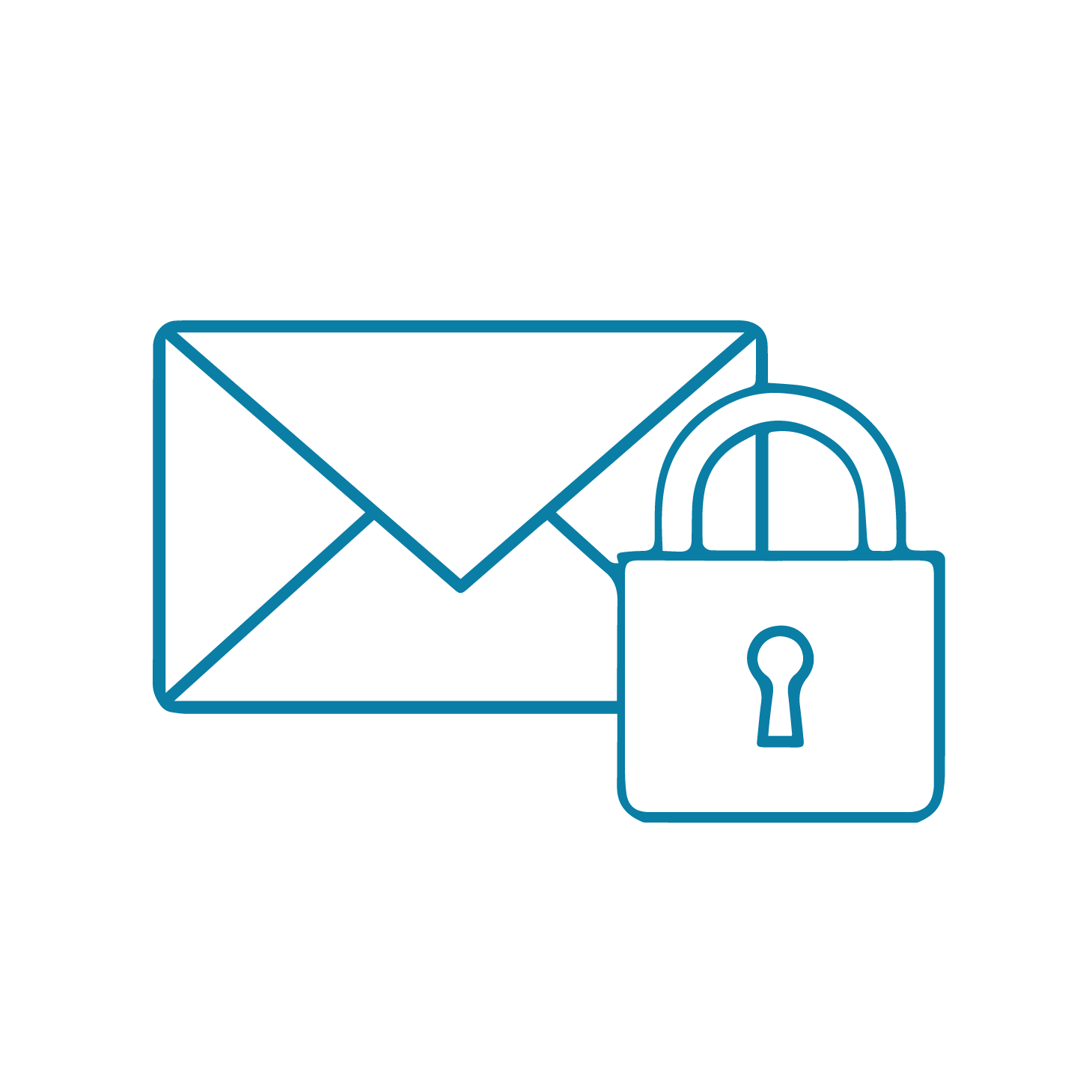 Home working icons-email security