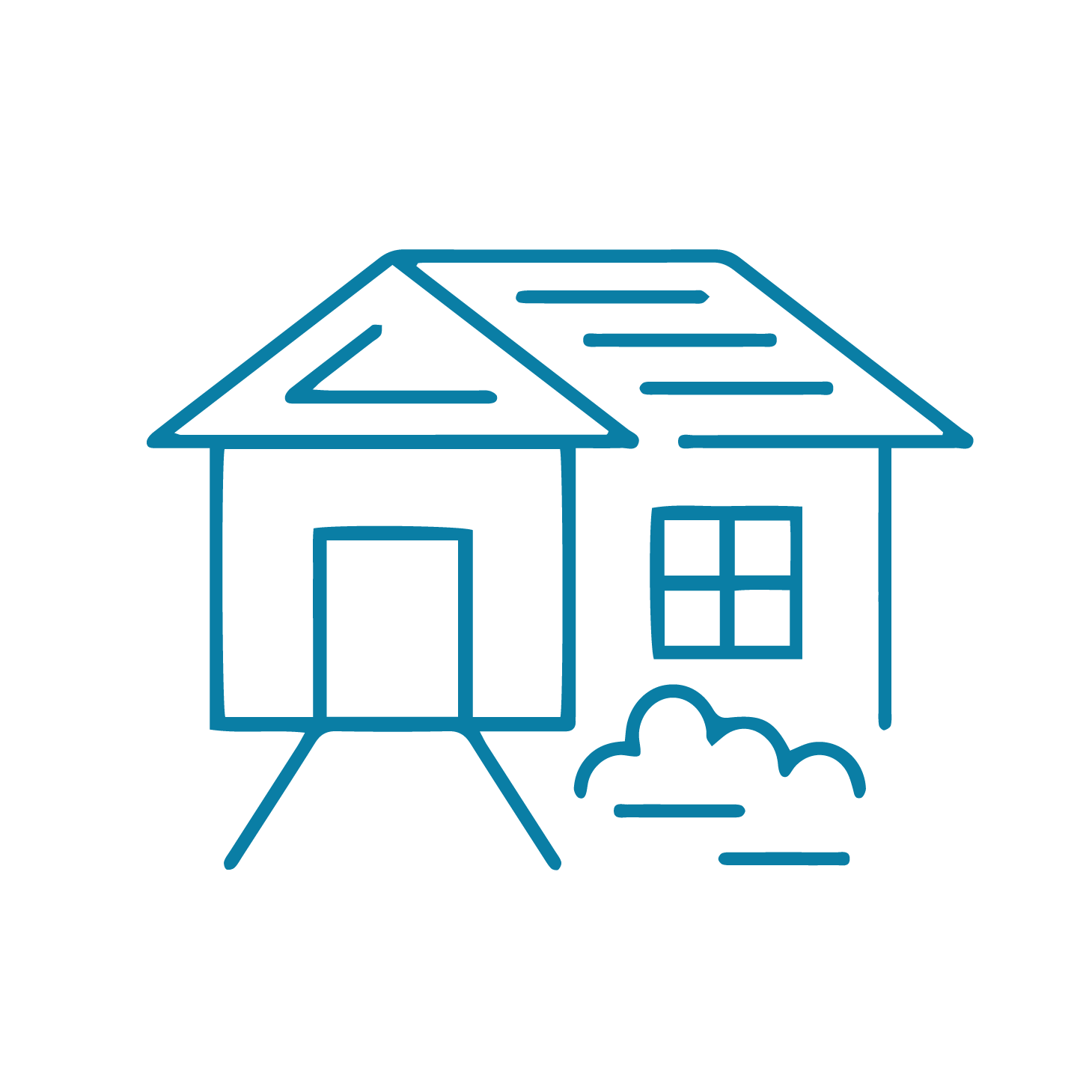Home working icons-home