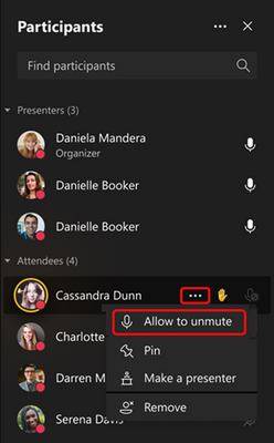 Screenshot showing how to prevent unmute